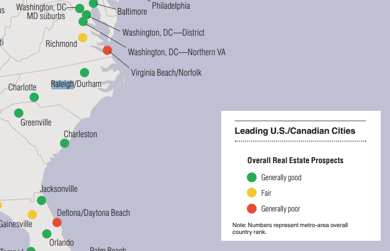 Raleigh NC Ranks Well in Overall Real Estate Outlook