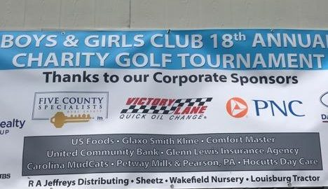 Banner: Boys & Girls Club 18th Annual Charity Golf Tournament